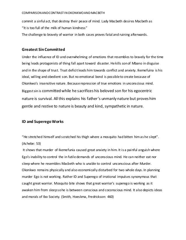 Macbeth Conflict Essay - Macbeth Conflict Essay