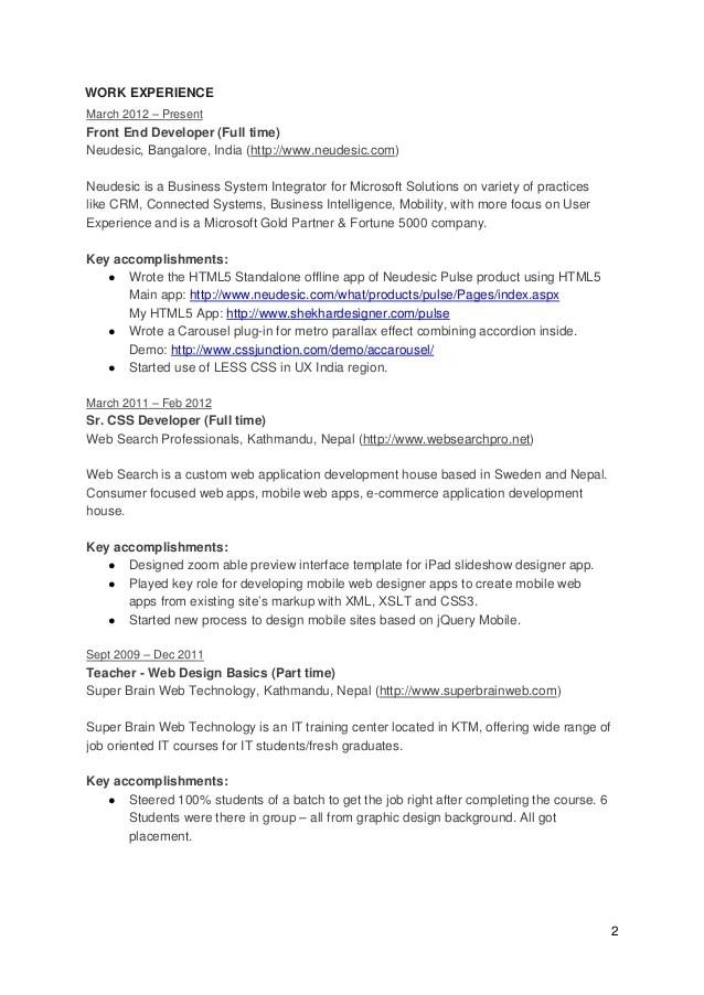 ui developers resume - Boatjeremyeaton