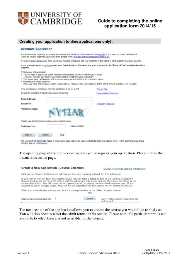 Graduate School Application Cover Letters Roanoke College University Of Cambridge Online Graduate Admission