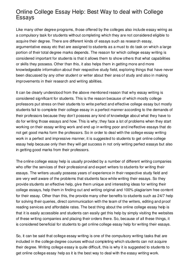Is my college essay good? (please help)?
