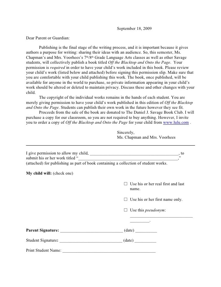 parents permission form - Hizlirapidlaunch