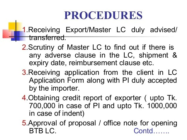 Letter Of Credit Lc Documentry Collection Export Import How To Open Lc