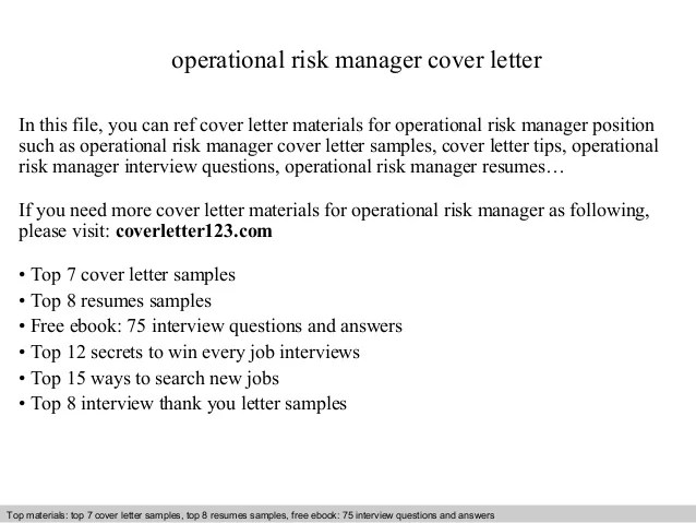 operational risk management resume - Boatjeremyeaton