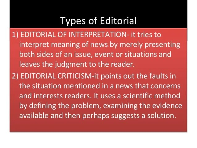 Opinion And Editorial Writing