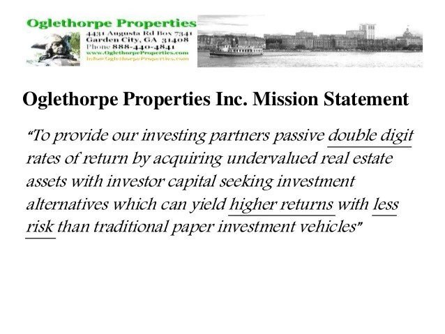 Private Real Estate Note Investing with Oglethorpe Properties