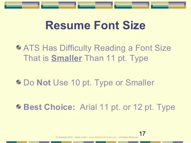 resume font size 2017 - Peopledavidjoel
