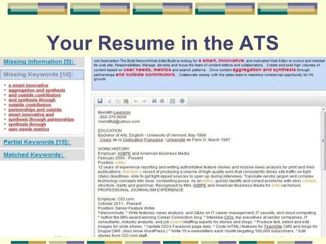 ats resumes - Towerssconstruction