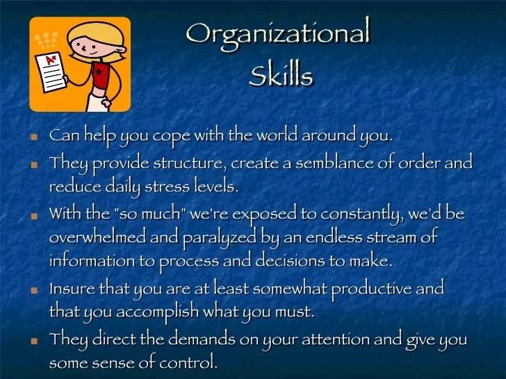 what is organizational skills - Canasbergdorfbib