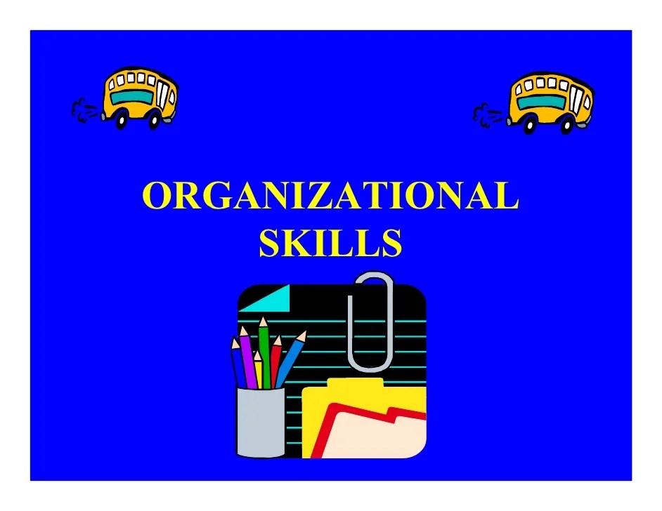 organization skill - Canasbergdorfbib