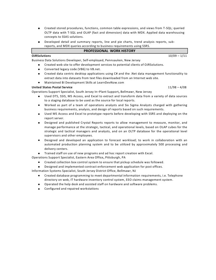 business intelligence developer sample resume - Business Intelligence Resume