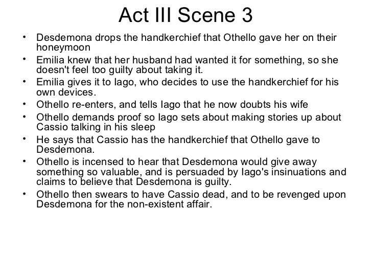 Othello Ppt Scene By Scene