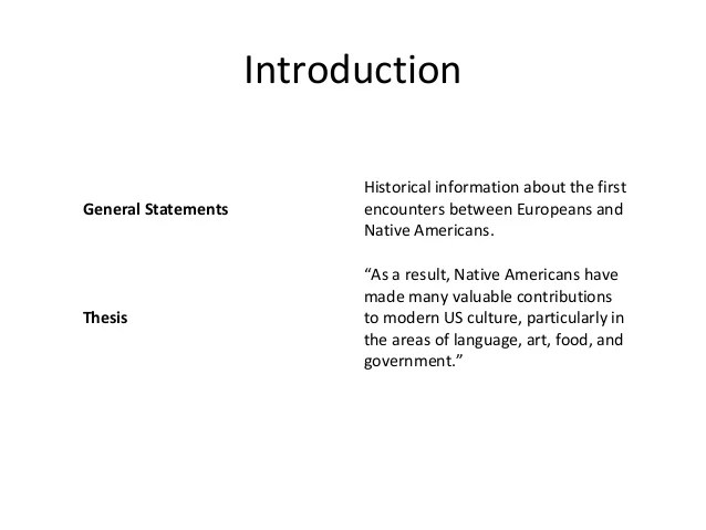 Outline Of Example Essay