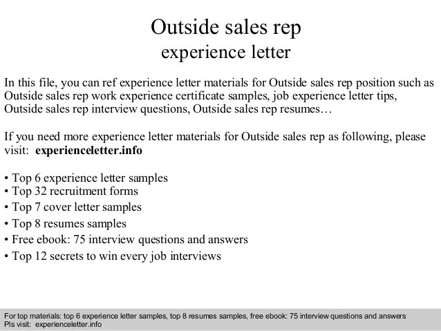 sample outside sales cover letter radiovkm