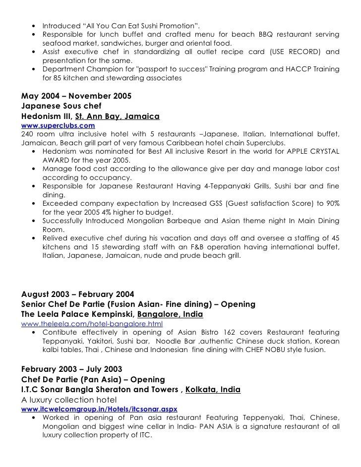 sample resume for buffet server professional resumes sample online - Resume Objective For It Professional