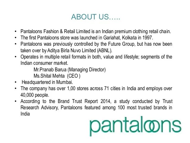 Pantaloons marketing mix