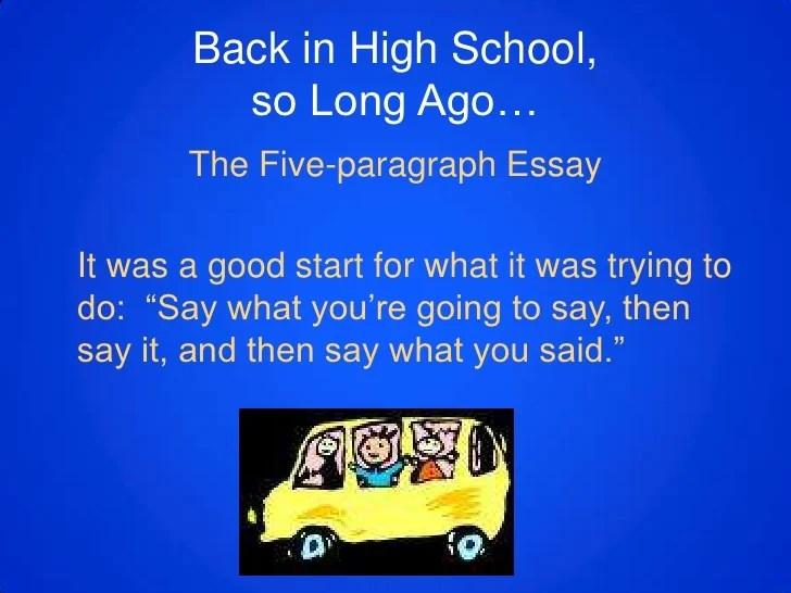 Beyond The 5 Paragraph Essay
