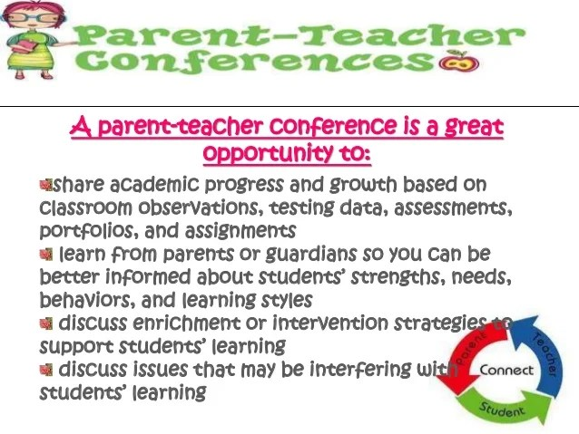 parent teacher conference letter to parents examples - Apmay