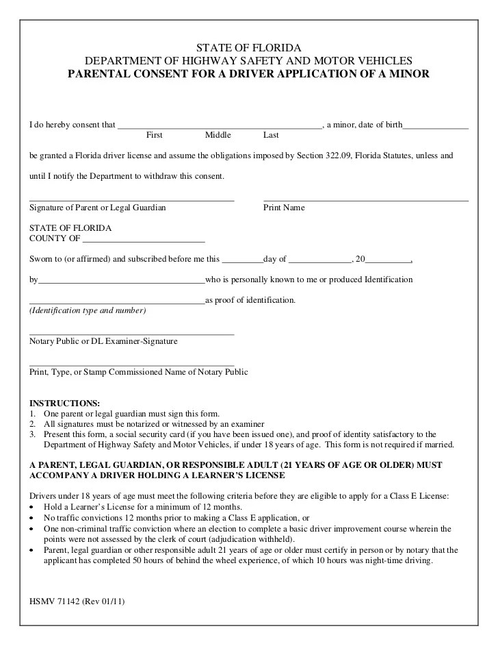 Child Travel Consent Form One Parent |