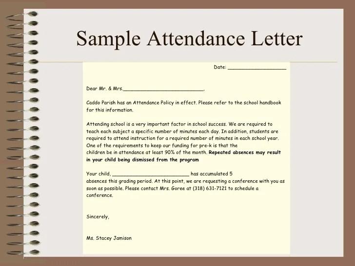 child absence from school letter - Alannoscrapleftbehind