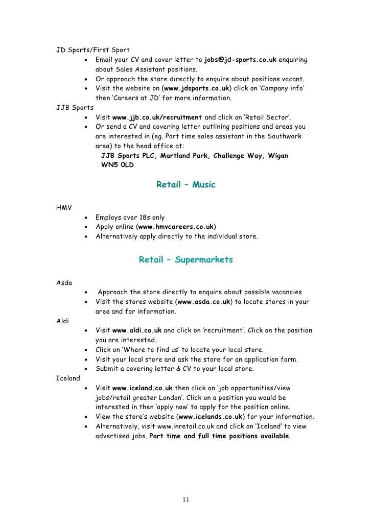 aldi resume example