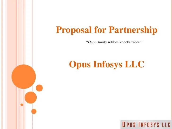 free sample business partnership proposal - Onwebioinnovate - Free Sample Business Proposals