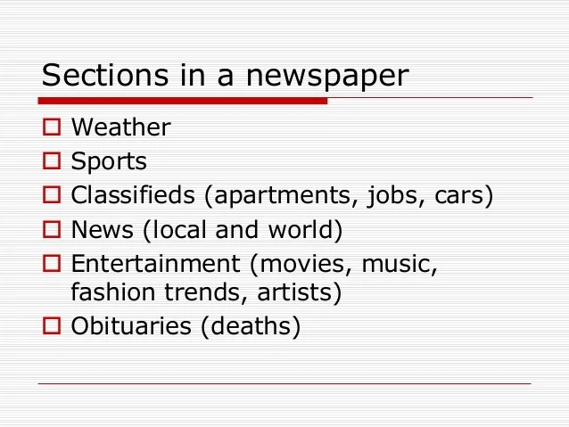 newspaper sections - Yokkubkireklamowe