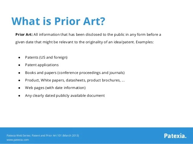 Patent and Prior Art 101