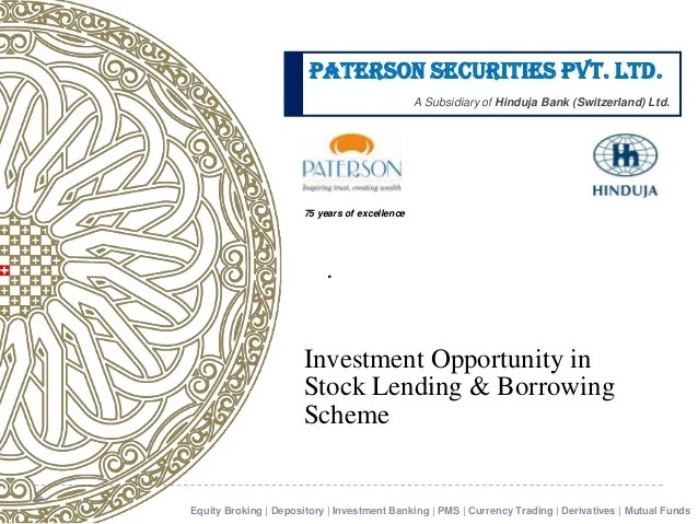 Securities Lending and borrowing