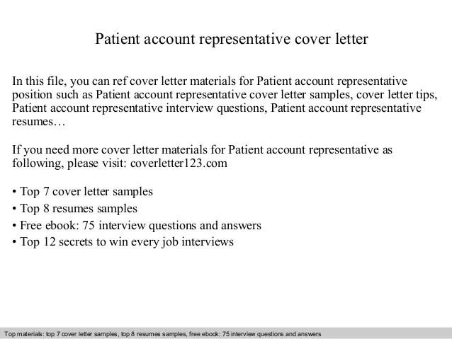 Patient Account Representative Cover Letter