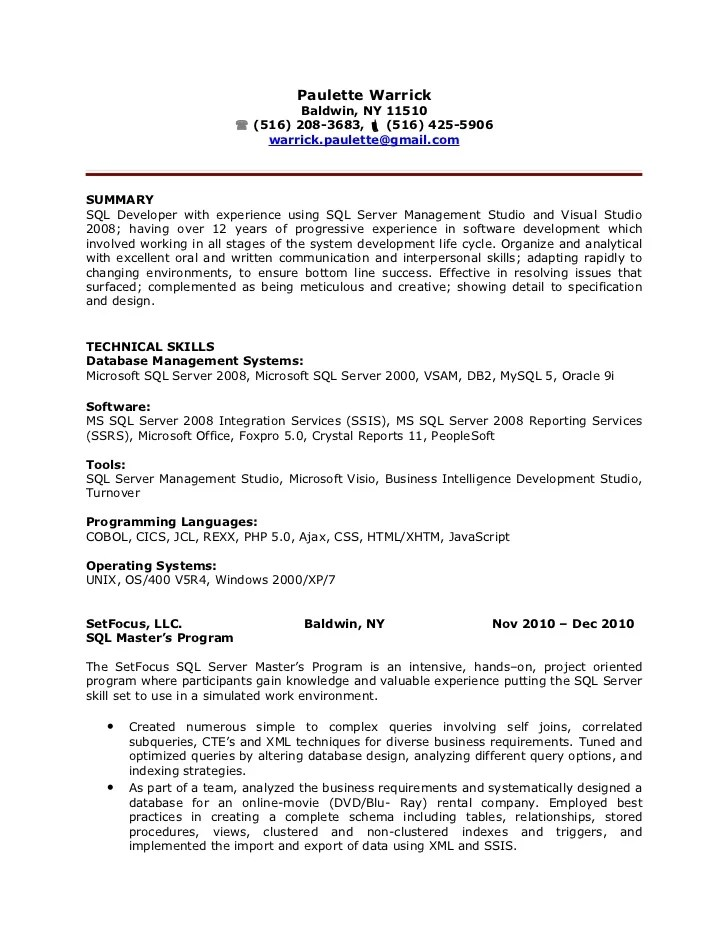 Sql Resumes Sql Server Dba Resume Fancy Sql Server Dba Resume 99 About  Template Ideas With