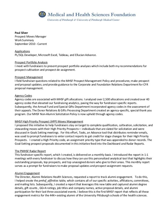 Usajobs Help Center What Should I Include In My Federal Paul Silver Resume And Prospect Moves Mgr Summary