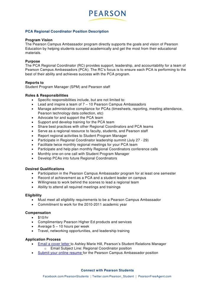 Pca Resume - Amosfivesix