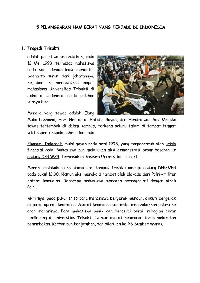 5 Kasus Pelanggaran Ham Di Indonesia Tahun 2005 Beserta Gambarnya Teori Manajemen Sumber Daya Manusia Menurut Para Ahli Pelanggaran Ham Berat Yang Terjadi Di Indonesia