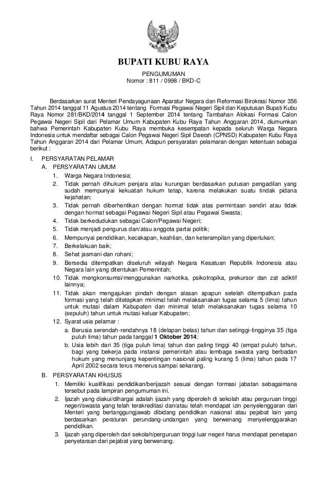 Pengumuman Cpns Ntb 2013 Lowongan Kerja Citilink Info Cpns 2016 Bumn 2016 Pengumuman Cpns Kubu Raya 2014