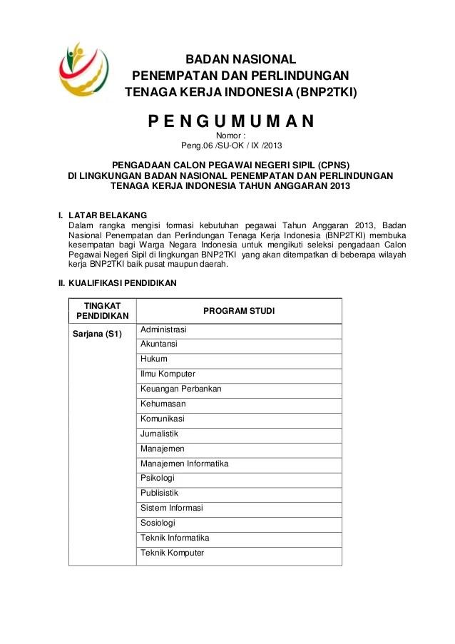 Pengumuman Cpns Yogyakarta 2013 Lowongan Cpns Bkn Loker Cpns Bumn Calon Pegawai Negeri Sipil Cpnsdi Lingkungan Badan Nasi