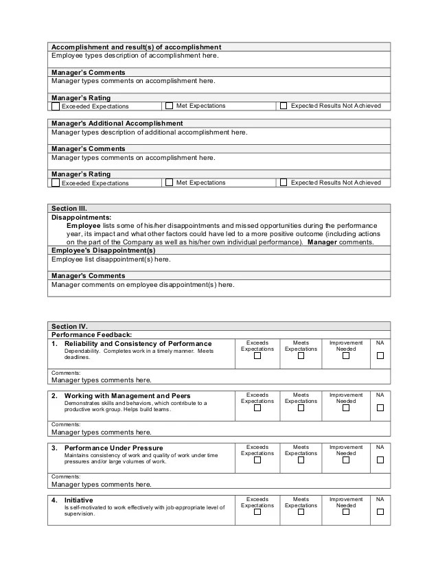 template performance appraisal - Romeolandinez - performance appraisal example