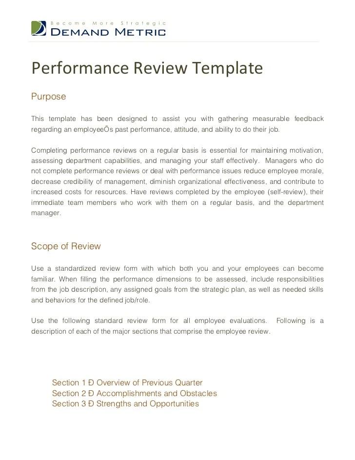 performance review samples for employees - Pinarkubkireklamowe