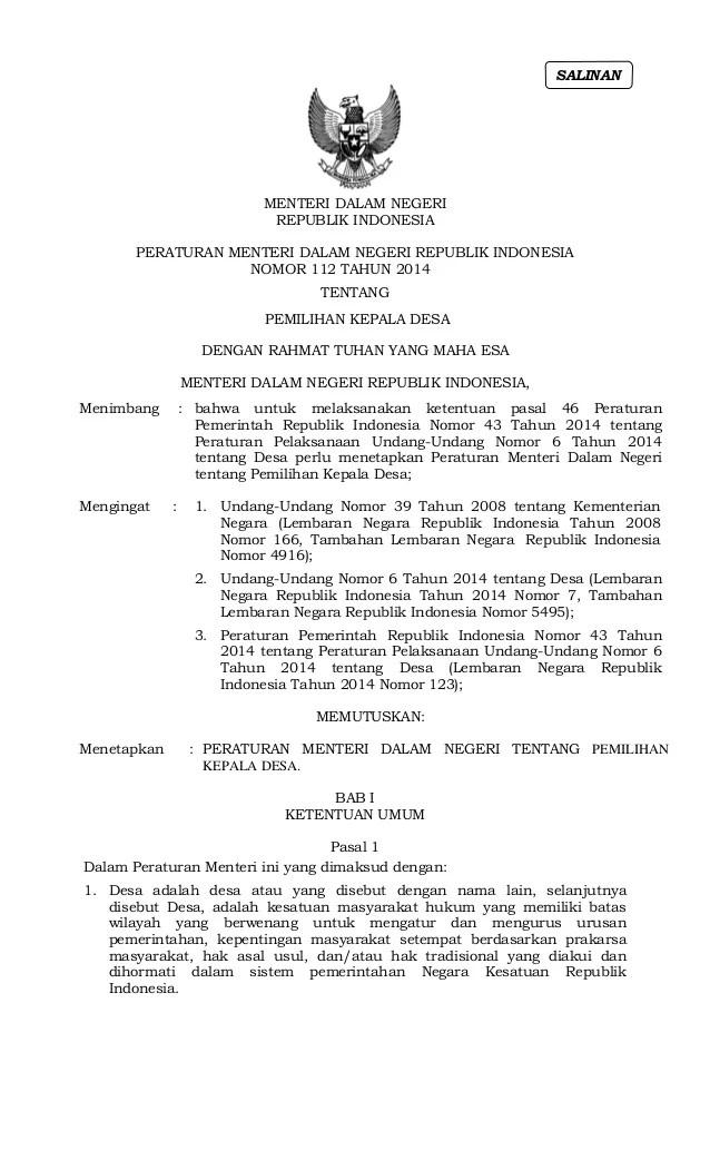 Download Uu Tentang Desa Tahun 2013 Uu No 39 Tahun 1999 Tentang Ham Komnas Ham Permendagri Nomor 112 Tahun 2014
