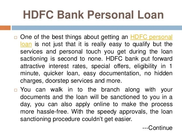 Which Bank Personal Loan Would You Prefer: SBI or HDFC?