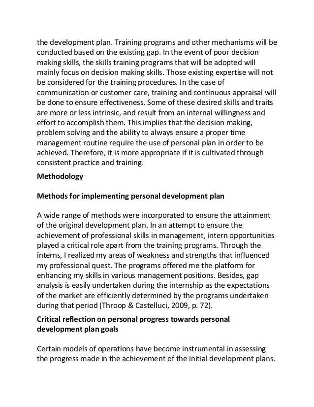 Employee Personal Development Plan Template employee development - personal development portfolio example