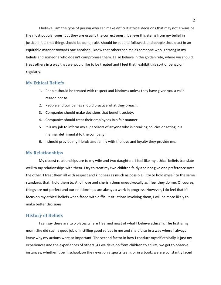 personal ethics essay - Pinarkubkireklamowe