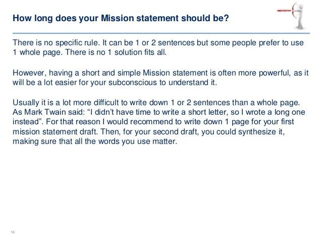 Short Mission Statements cvfreepro