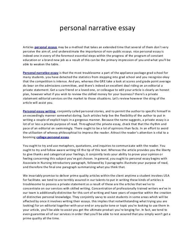 narrative essay outline example