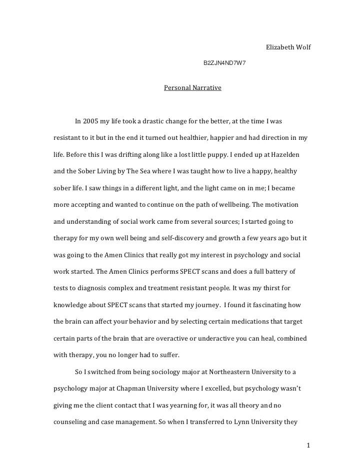 Political Science Essay Topics Personal Narrative Essay Examples High School English Essays Examples also Healthy Food Essay Example Of Personal Narrative Essay Personal Narrative Essay  English Essay Books
