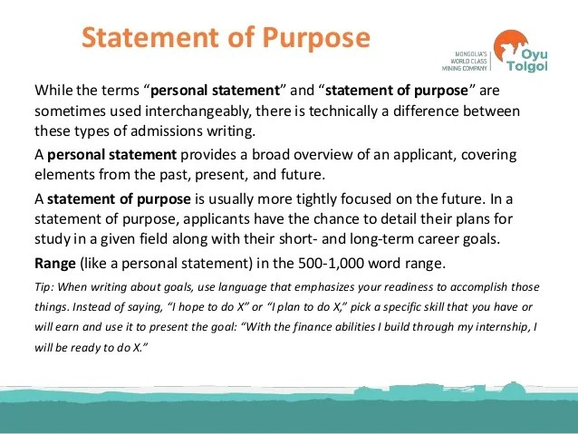 statement of purpose for letter of recommendation