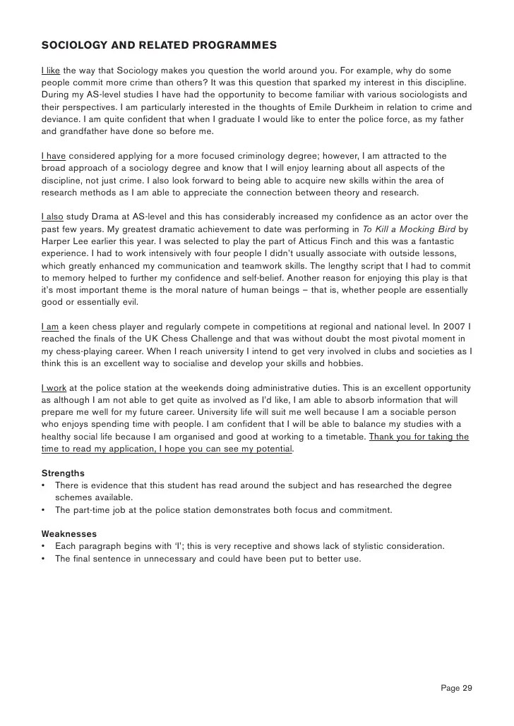 6 Form Personal Statement Examples Informative Speech And