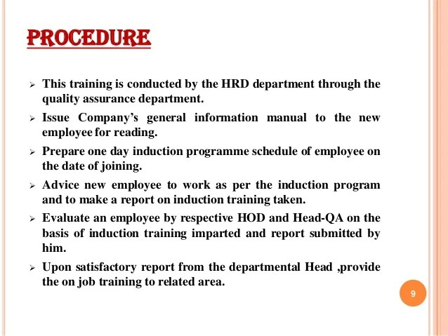 employee training schedule