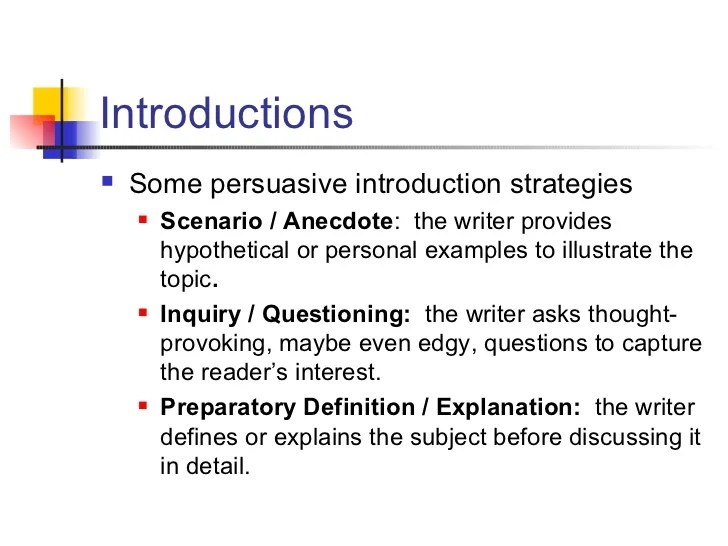 Persuasive Essay Introductions Ospi