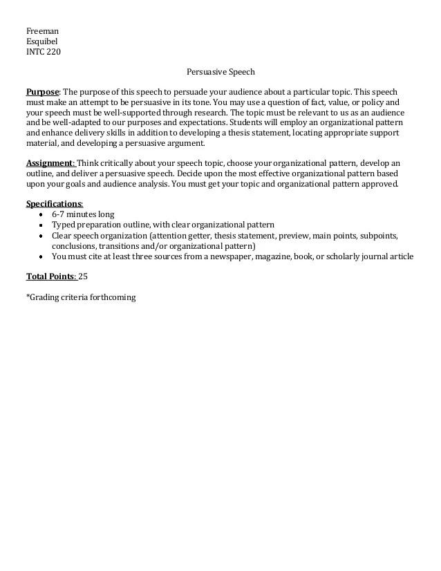 values speech outline - Boatjeremyeaton - tribute speech examplestraining evaluation form