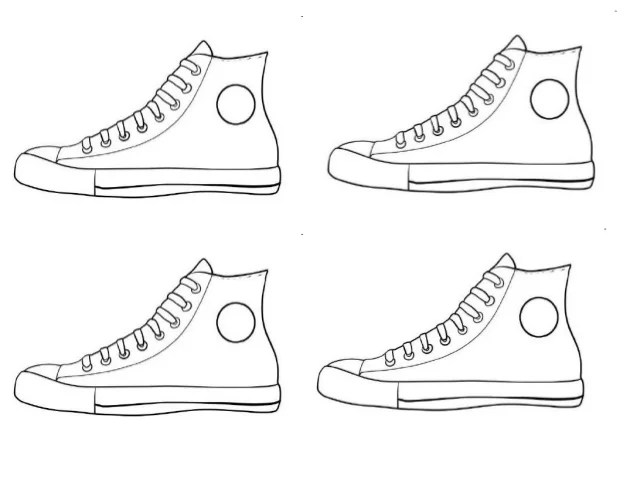 Pete The Cat Activities Free Converse Shoe Template By Auto